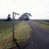 Shelbrook Lane road sign on country lane, rural Tasmania, Australia.