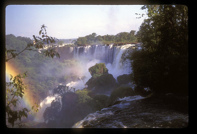 Waterfall and rainbow, Iguazu Falls National Park, Argentina.