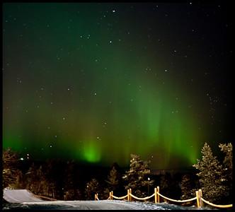 Revontulet, Finnish for Northern Lights. Saariselkä, Finnish Lapland.