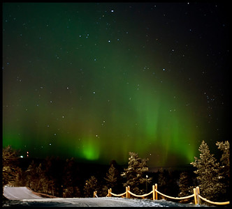 Revontulet, Finnish for Northern Lights. Saariselkä, Finnish Lapland.