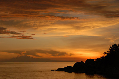 Sunset, Likoma Island, Lake Malawi.