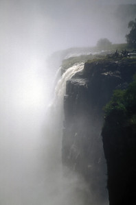 Victoria Falls, Zambesi River between Zambia and Zimbabwe.