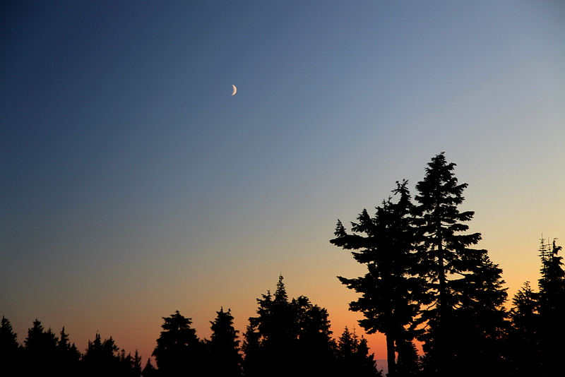 Seymour Sunset with Moon