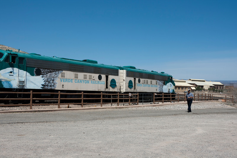 EMD FP7 locomotives, hauling the Verde Canyon RR train