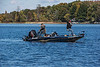 D284-2014  Autumn at Portage Lake<br /> Fishing boat<br /> <br /> Waterloo Recreation Area, Jackson County, Michigan<br /> October 11, 2014