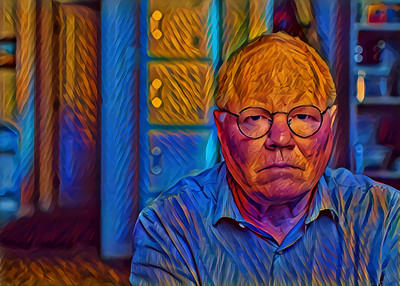 I rather like how the deep learning model picked up and amplified my mood in this image. I look far more depressed than I actually was. Click for the original image. I'm just an actor playing the role of my life.