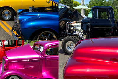 Many restored and classic cars were on display at Eagle Fun Day. So many shiny things in the sun!