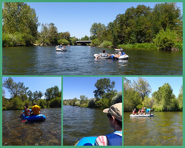Floating down the Boise River is one of the more relaxing things you can do here during the summer. Today we floated from Barber Park to Ann Morison Park. It takes less than two hours. This was the first time since last August that I tried using my little not entirely waterproof camera. I damaged it in the high surf in Hawaii and thought it was kaput. After a few months of drying in silica gel I could turn it on but it will not focus, zoom or log GPS positions. Despite its handicaps, I can still get some useful shots out of it.
