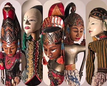 Indonesian stick dolls.
