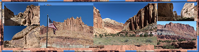 The colorful cliffs of Capitol Reef Nationl Park.