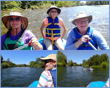 River float season is in full swing. Today I rafted down the Boise River with Mali and two ladies from her hiking group. The summer weather was perfect and the river water was clear and cold. The only thing missing was cold beer.