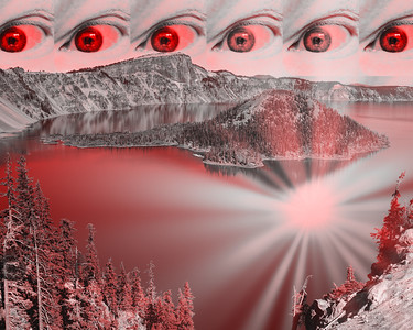 The red ray lake wizard emerges.