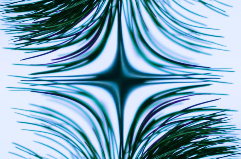 Dangling pine needles sin(x).