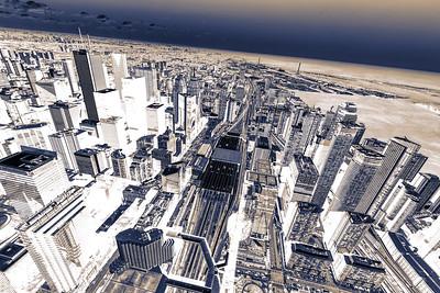 Negative cityscape.