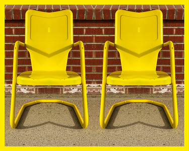 Sometimes you need more than one yellow lawn chair.