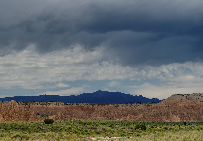 Brooding skies to the west of Cathedral Gorge.