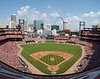 The view from my Busch Stadium seat. I was up on the third terrace behind home plate. In my opinion one of the best outfield views in baseball.
