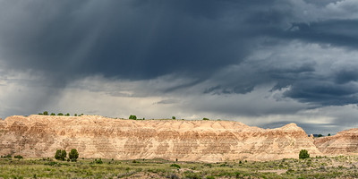 We stopped at Cathedral Gorge State Park on the way back from Vegas. Rain storms were looming to the north making for an interesting mix of light.