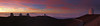 Some Mauna Kea summit observatories at sunset.