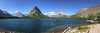 We visited Swiftcurrent Lake and the Many Glacier Hotel in Glacier National Park today. The last time I was at Many Glacier, thirteen years ago, forest fires were raging around the park and the sky was filled with smoke. It was hard to make out details on the mountains around the lake. Today the sky was clear and the sun shining.