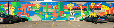 Late afternoon sunlight forced me to scan this Bozeman mural.