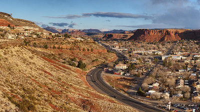 Saint George Utah from our Inn on the Cliff balcony.
