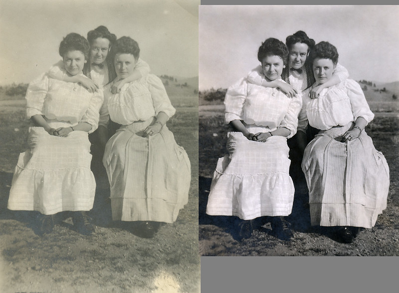 I am beginning to rely on Affinity Photo more and more when restoring photos. I still make final adjustments in other programs: mostly to edit metadata and insert captions. This small image was in poor condition and I didn't expect much. I was mostly practicing restoration techniques in Affinity Photo.