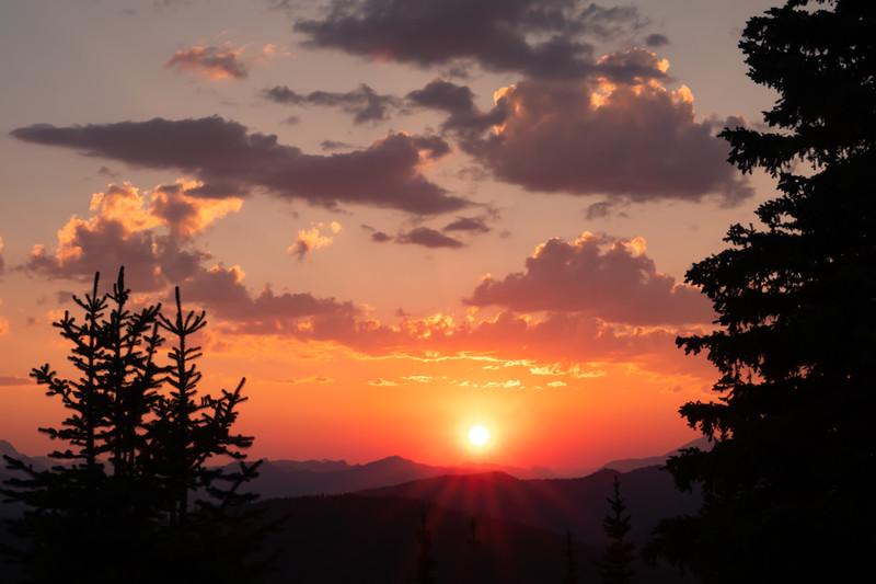 Sunset From Blackwall - Manning Park, B.C.