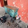 Shoe shine stand, Antigua, Guatemala.