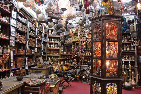 Shop in the Muttrah Souk, Muttrah, Oman.