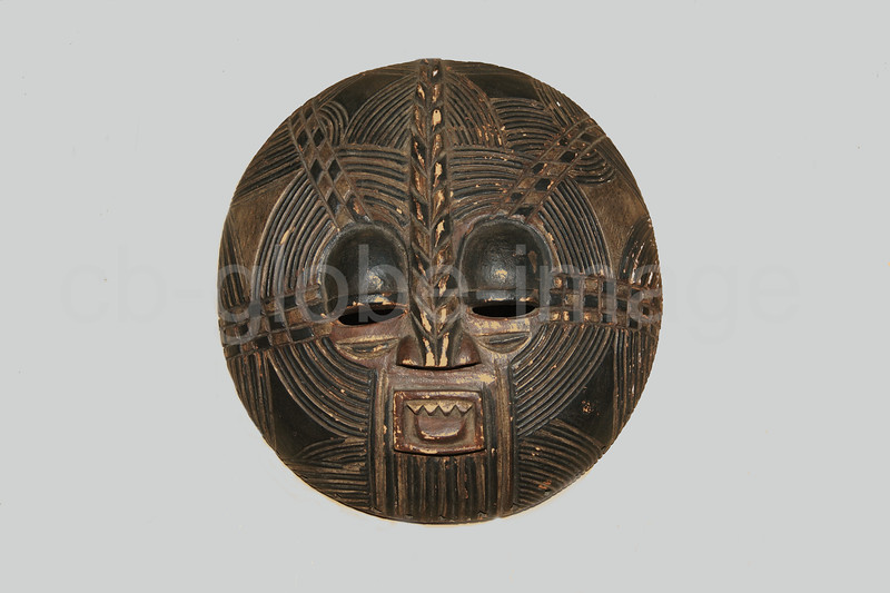 African mask of the Luba. Luba masks are worn on special occasions, as part of royal ceremonies and initiation ceremonies mask