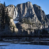 View of Yosemite Falls from Swinging Bridge