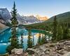 Morning light at Moraine Lake. Near Lake Louise, Alberta
