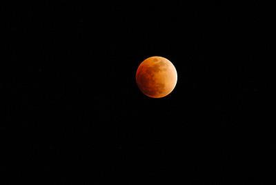 Total lunar eclipse, 20 February, 2008.