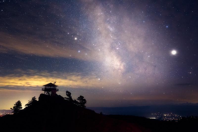 Kittitas, Red Top - Milky Way over Red Top Lookout