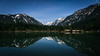Snoqualmie Pass, Gold Creek Pond - North view of pond on a clear, moonlit, starry night