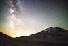 St. Helens, Plains of Abraham - Milky Way transiting a gap near Mt. St. Helens