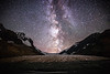 Jasper, Icefields Centre - Milky Way transiting the gap above the Athabasca Glacier