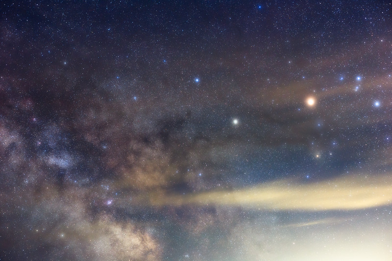 Columbia, Sun Lakes Dry Falls - Tracked Milky Way with Saturn