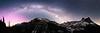 Washington Pass, Overlook - Milky Way and Aurora Over Liberty Bell