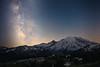 Rainier, Sunrise - Milky Way above the Sunrise lodge