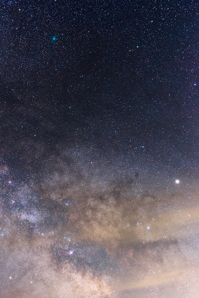 Columbia, Sun Lakes Dry Falls - Tracked Milky Way with a comet