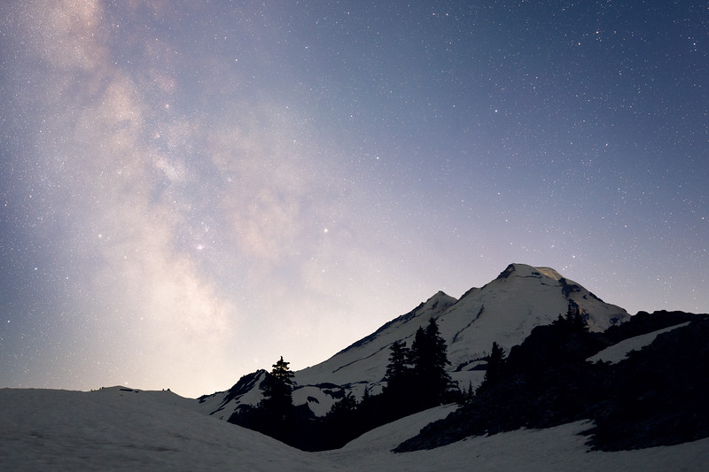 Whatcom, Artist Point - Mt. Baker with Milky Way in early summer