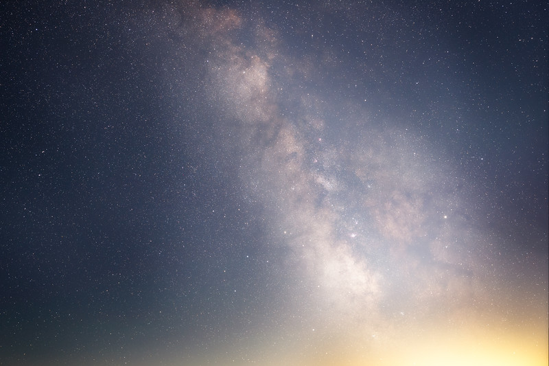 Whatcom, Artist Point - Horizontal tracked Milky Way, 35mm isolated, right side