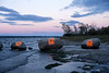 Painted Ottawa River rocks.