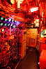 Periscope room in the Russian Scorpion class submarine beside the Queen Mary. I liked how the red lighting rendered.