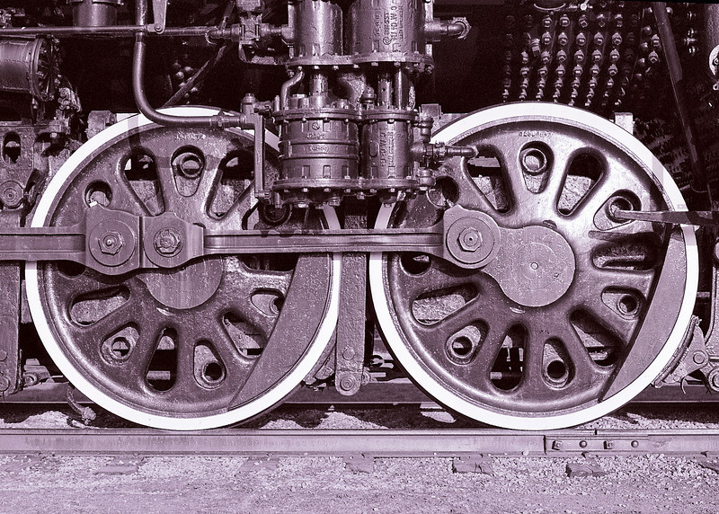 Wheels from the Science Museum grounds locomotive.