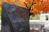 Part of an interesting war memorial on the grounds of the Missouri capitol in Jefferson City. The fall colors and dark polished granite caught my eye.