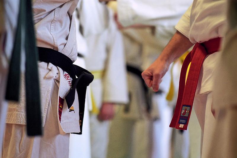 Karate class.