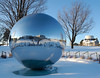 Still my favorite sculpture in Ottawa. The ball throws back the world around it.